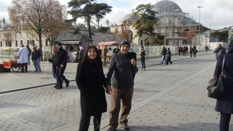 Umr yo'ldoshim bilan Istanbulda. 2013 yil. Dekabr.